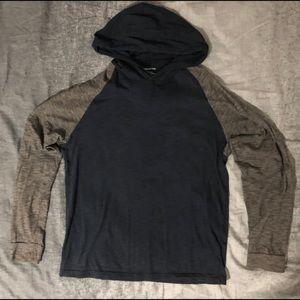 Banana Republic Hooded Long Sleeve Shirt Medium